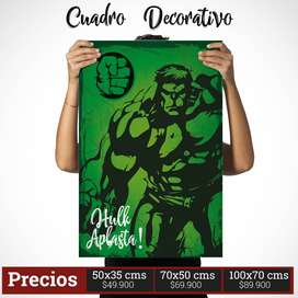 Cuadro Decorativo de Hulk Comic Style