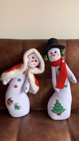 Muñecos de navidad - nieves enamorados