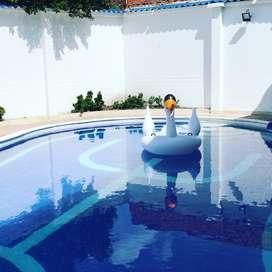 Casa quinta con piscina amoblada ideal para fines de semana y vacaciones