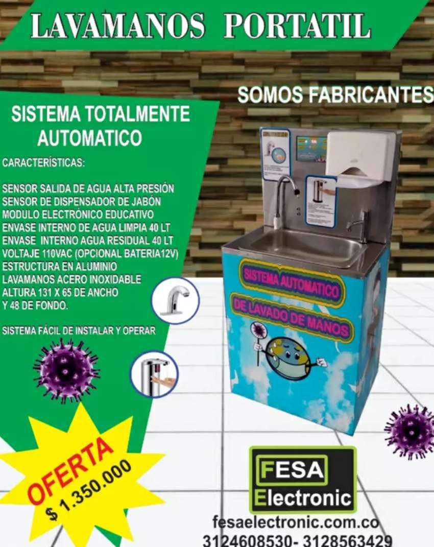 Lavamanos portátil automático con sensor de proximidad 0