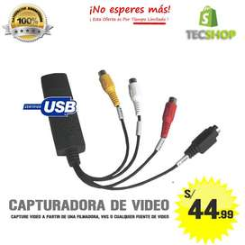 CAPTURADORA DE VIDEO USB, CAPTURE VIDEO DE FILMADORA, VHS STREAMING