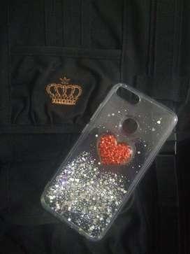 Funda TPU glitter brillos corazon rojo 3D️ ️para Xiaomi Mi A1 Ramos Mejia