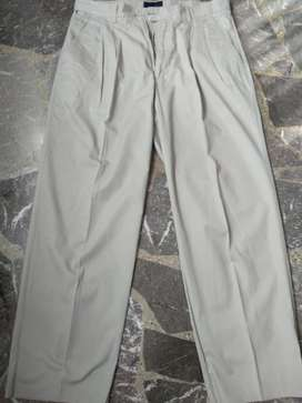Pantalon New Man Pinzado T 44 Beige