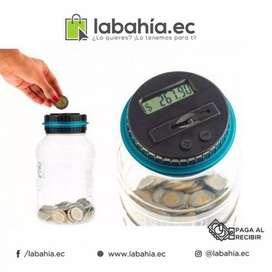 Alcancia con contador digital de monedas