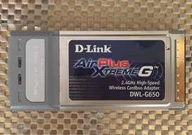 Tarjeta de Red D-link (DWL-G650) Air Plus Xtreme G 2.4GHz Adaptador Cardbus Inalámbrica de alta velocidad - Importada