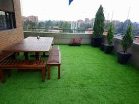 grama sintética jardines exteriores o interiores  4 cm