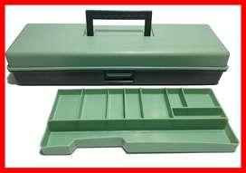 Caja de almacenamiento para aparejos de pesca, impermeable,  con divisores ajustables para terminales de pesca y señuelo