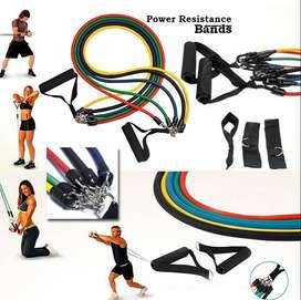 Set 5 Ligas Bandas De Resistance Gym + Accesorios + Bolso. SOMOS, RISUTIMPORT