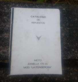 Catàlogo de Repuestos Zanella 175 Ponderosa segunda mano  Ituzaingó, Capital Federal y GBA