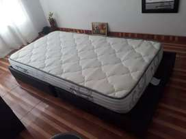 Colchón más base cama