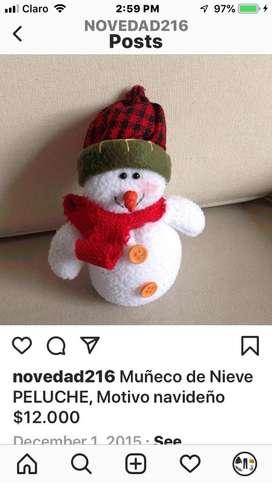 Muñeco de Nieve peluche Navideño