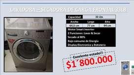 LAVADORA – SECADORA DE CARGA FRONTAL 33LB