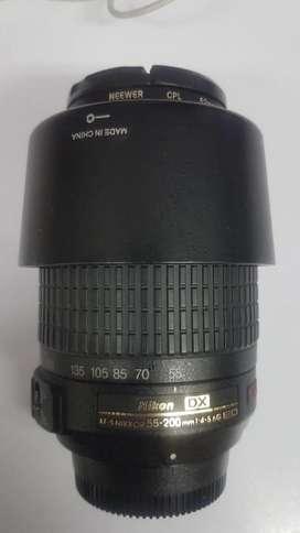 Lente Nikon 55-200 DX - VR