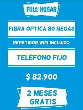 Internet para tu hogar fibra óptica