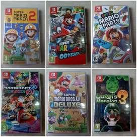 Vendo juegos nintendo switch nuevo