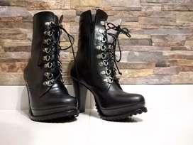 Botas negras 100% cuero