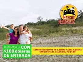 VENDO LOTE CAMPESTRE DE 1000M2 EN 9900 BAJAS CUOTAS DE 137,50 S2