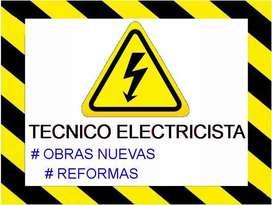 Técnico electricista - obras nuevas y reformas