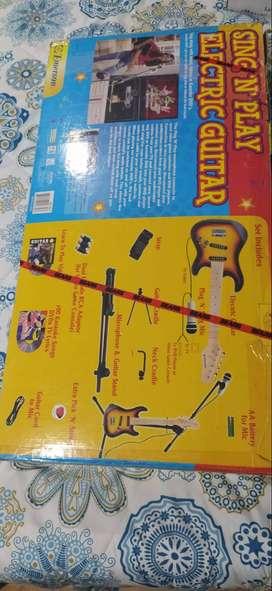 guitarra eléctrica para niños + micrófono!