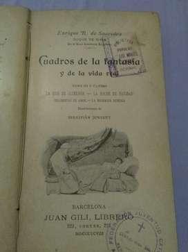 Cuadros de La Fantasía Y La Vida Real La hija de Alimenon Rivas 1898