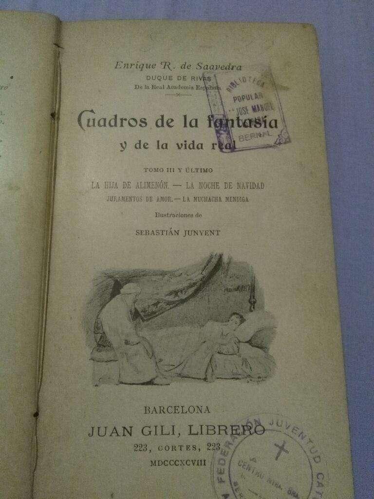 Cuadros de La Fantasía Y La Vida Real La hija de Alimenon Rivas 1898 0