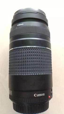 Lente de zoom canon 75-300.