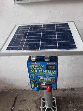 Impulsor electrico  solar cerca electrica solar panel 12W para ganado todo en uno