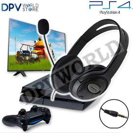 Audífono Ps4 Play Station 4 Tipo Diadema Headset Micrófono
