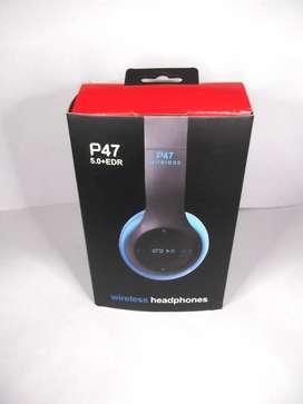 Auricular Bluetooth P47 Vincha Micro Sd Radio FM Inalámbrico