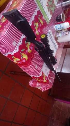 Rifle. Nitro piston