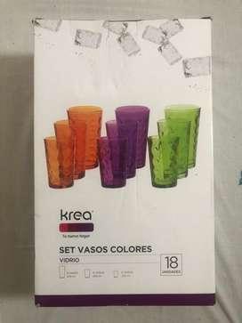 Kit de Vasos de Colores Nuevos