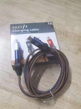 Cable usb tipo C extra reforzado para carga rápida
