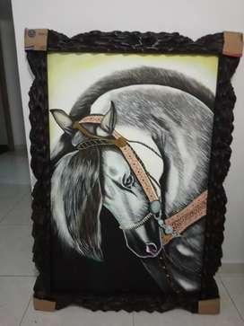 Cuadro de caballo al oleo