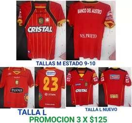 Vendo Camisetas de Fútbol Originales nacionales e internacionales