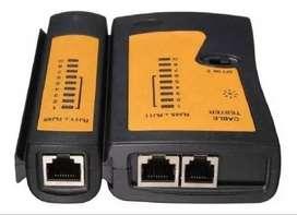 Tester Cable Utp Red Rj45 Y Telefono Rj11 + Funda $