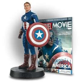 Figura Capitán América colección Marvel oficial