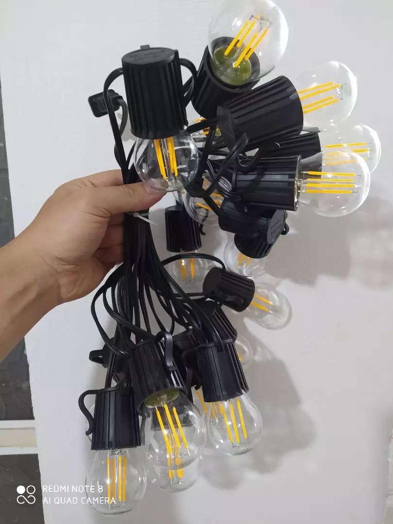 Ramal de bombillos vintage led para decoración 7 metros 0