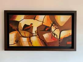 Cuadro abstracto - Acrílico sobre lienzo - 114 x 64