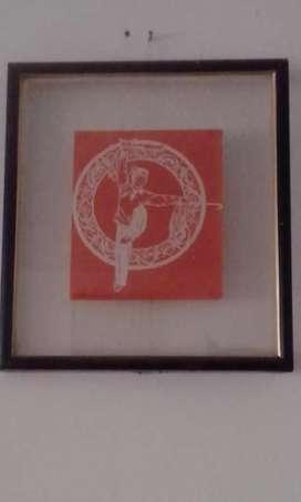 Cuadros de imágenes de artes .marciales  en papel de arroz taallaje a mano