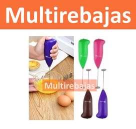 Mini Batidor Portatil Para Cappuccinos Omelette Teteros de uso facil