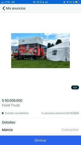 Food truck lista para trabajar