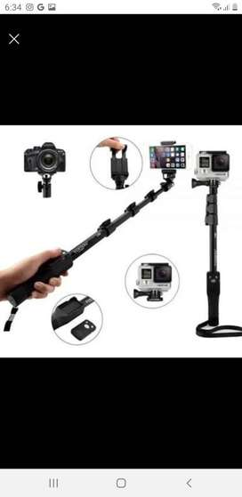 Palo de Selfie Monopod Bluetooth + Trípode