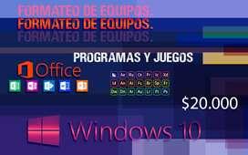 Formateo e instalación de programas y juegos