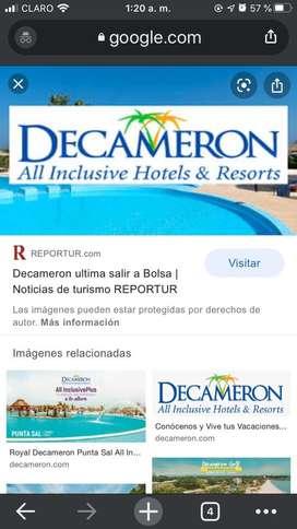 SE VENDE MEMBRESIA HOTELES DECAMERON