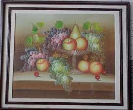 Cuadro de frutas en oleo