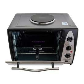 Horno Electrico Con Anafe 1600w  1000w 36 Litros Winco W37