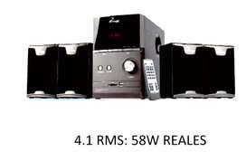 Mini Componente Phoenik 4.1 Teatro en casa bluetooth. mp3, USB/Sd, FM