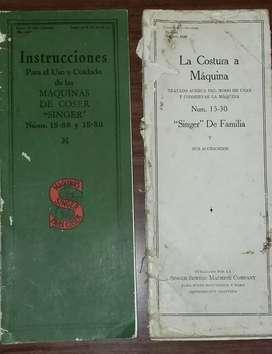 Antiguos Manuales de maq singer
