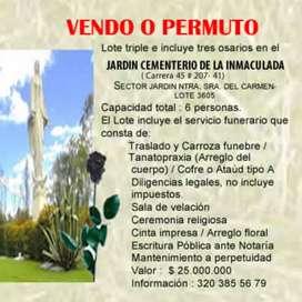 Vendo Lote Cementerio La Inmaculada
