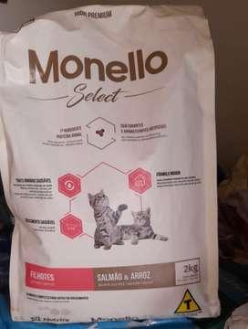 Comida para gato monello select 2 kilos